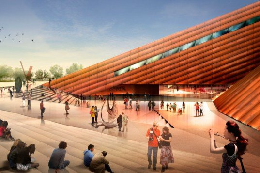 Foster and Partners, Datong Art Museum, Cultural Plaza, Pedestrian Plaza, China Architecture