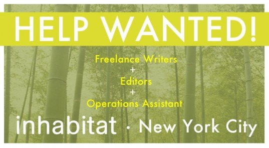 Inhabitat Help Wanted sign, Inhabitat is hiring, Inhabitat careers, Inhabitat jobs, Inhabitat recruiting