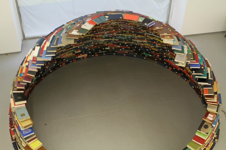 Miler Lagos\' Awesome Book Igloo is Stacked High with Recycled ...
