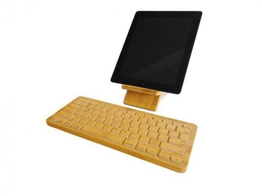 iZen Bamboo keyboard, bamboo keyboard, bamboo apple accessories, bamboo ipad accessories, bamboo computer accessories, bamboo gadgets