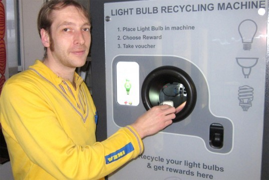 Light Bulb Vending Machine, ikea light bulb recycling, light bulb recycling