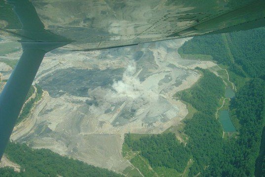 Mountaintop Removal, strip mining, coal mine, West Virginia, Arch Coal of St. Louis, Spruce No. 1 Mine