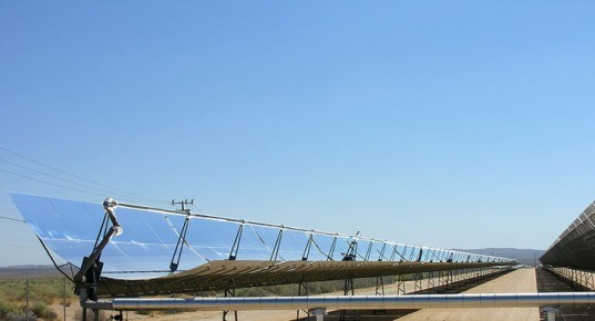 Parabolic trough, solar power, solar array, solar power plant, photovoltaic