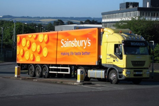 Sainsbury lorry, sainsbury truck, supermarket emissions, transport emissions, toilet roll