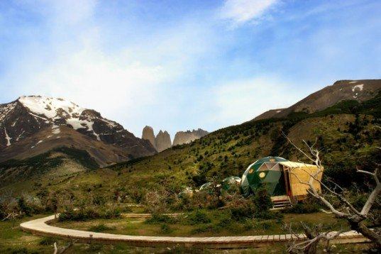 ecocamp patagonia, green travel, Torres del Paine National Park, chile, sustainable design, green design, geodesic dome, hiking, green vacation, great outdoors