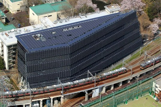 Tokyo Institute of Technology, japan, solar panels facade, solar panels, renewable energy, university, Meguro, Environment and Energy Innovation Building, clean energy, Architecture, green technology, Renewable Energy, Zero energy