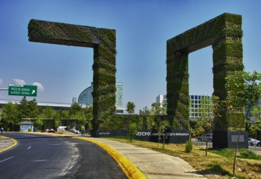 VerdMx, Mexico City, Mexico, vertical gardens, eco-sculptures, public art, sustainability, Nissan