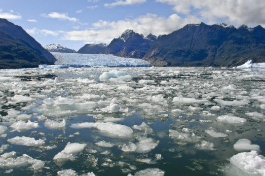 Icebergs Chile, melting ice, ice floes, global warming, climate change