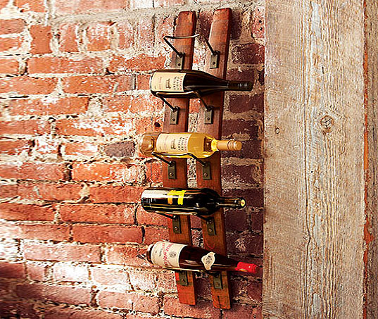 Beautiful Wine Rack Made From Old California Wine Barrels