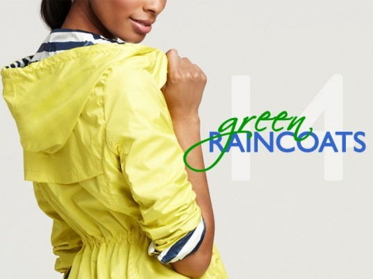 eco fashion, green raincoats, green rain jackets, rain gear, green fashion