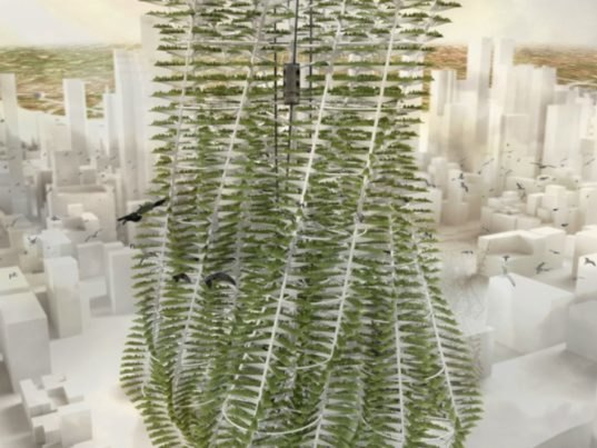 Appareil S Agriculture 2 0 Vertical Farm Tower Re Imagines