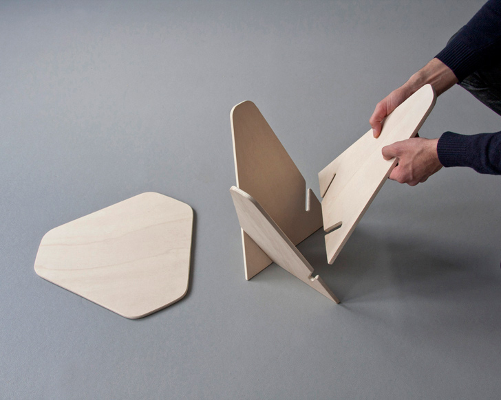 Andreas Kowalewskiu0027s Wedge Side Table Is A Genius Single Material Flatpack  Design | Inhabitat   Green Design, Innovation, Architecture, Green Building