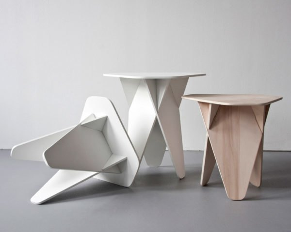 Green furniture, flatpack, side table, Andreas Kowalewski, Wedge table, green design, wedge side table