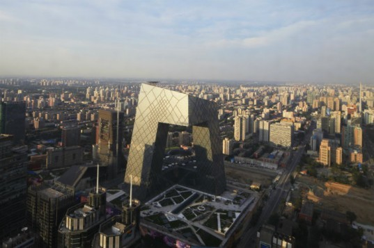 CCTV, OMA, china central television, rem koolhaas, eco tower, china, energy efficient design