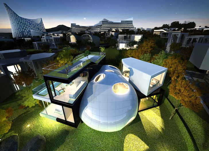 The Cocoon House is an Amorphous Green-Roofed Retreat on a UNESCO ...