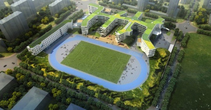 The Garden School Is A New Green Roofed Learning Facility For China