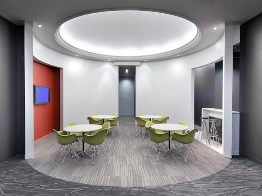 HKS Atlanta Office, HKS Inc, HKS Architects, green interiors, leed gold interior, architecture office