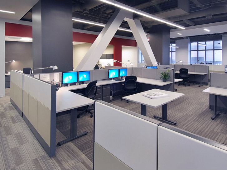 Hks atlanta office renovation awarded leed gold for commercial interiors inhabitat green Interior design companies in san francisco