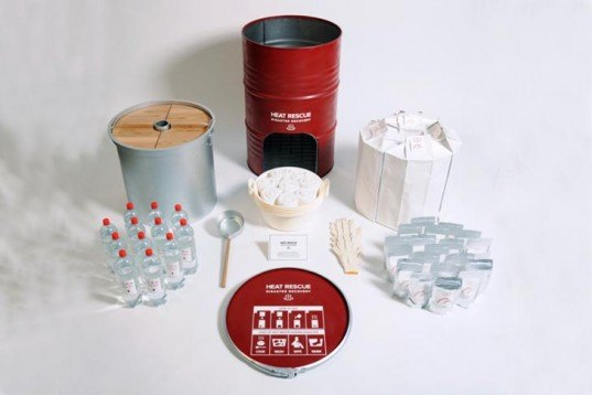 Hikaru Imamura, Heat Rescue Disaster Recovery, Warm food, Earthquakes, japan, japanese design, rescue kit, natural disasters, Milan Furniture Fair, Green Products, Design for Health, Disaster-proof design,