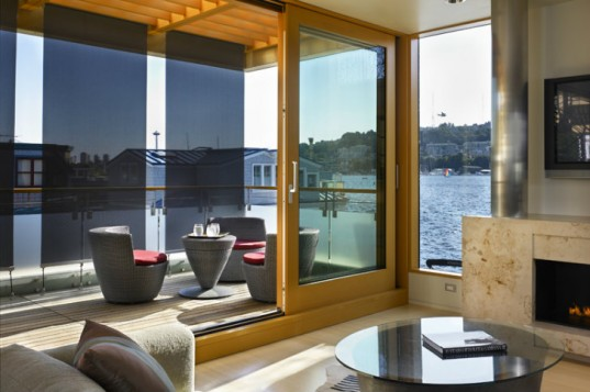 Lake Union Floating Home, Vandeventer + Carlander Architects, floating home, seattle, energy efficient home, floating house