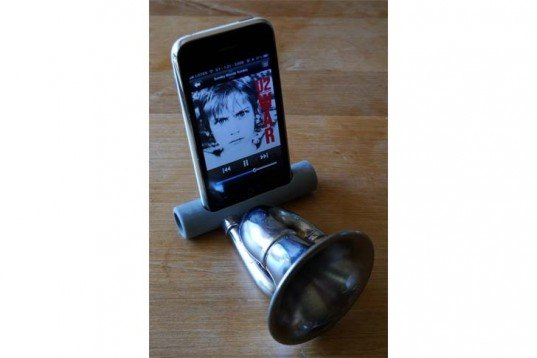 Lowtechatmo, iPhone Amplifier, electricity-free iPhone speakers, DIY, iPhone amplifier, Bicycles, Green Products, green gadgets,