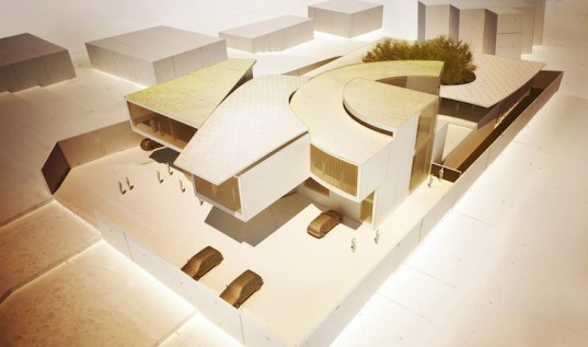 Matteo Cainer Architects, Cameroon, Swiss Clockwork Embassy, Musgum housing, green design, sustainable design, eco-design, Cameroon, rainwater harvesting, swiss watches, passive design, geothermal, clean energy, Minergie, natural materials, energy-efficiency