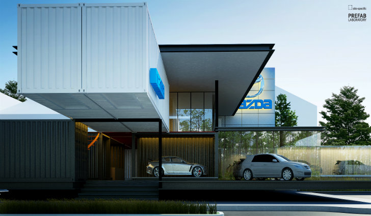 Modular Mazda Shipping Container Car Dealership To Be