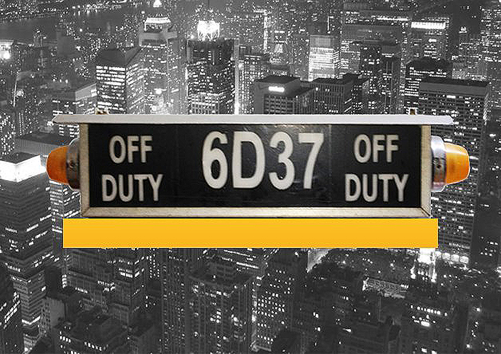 Off Duty No More Recycled Taxi Signs Into LED Lights
