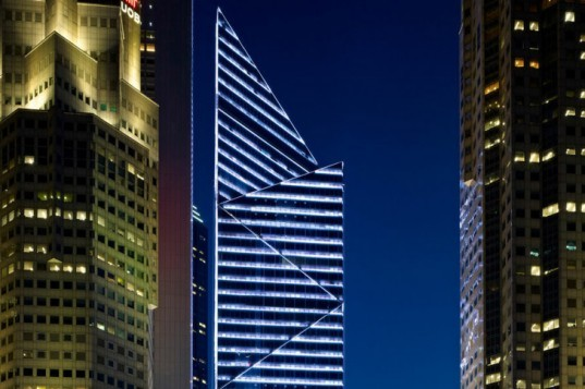 Singapore green building, Green Mark, Green Mark Platinum, Tange architects, SAA architects, LED highrise,