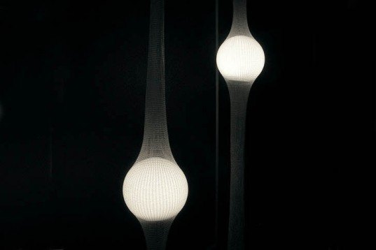 Ryosuke Fukusada, LED, Poly-net, Net Lamps, Ernesto Neto, testicles, genitalia art, Green Lighting, energy efficiency