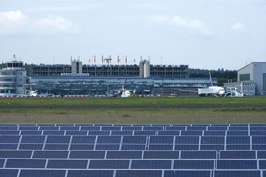 Saarbrücken, airport, solar, France, solar array