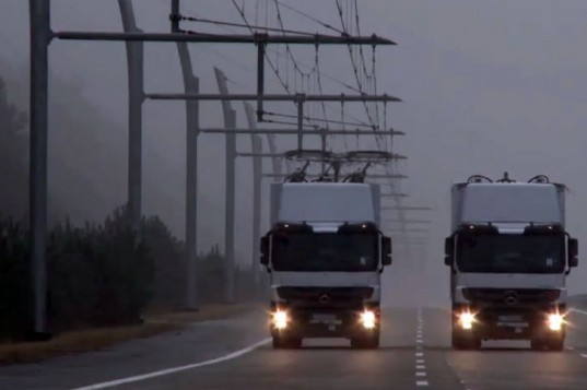Siemens, ehighway, hybrid trucks, California, ehighway of the future