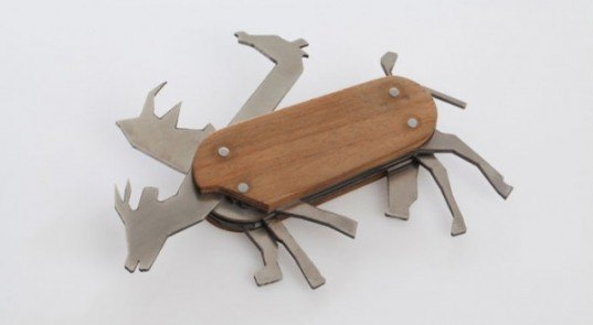 David Suhami, animal pocket knife, swiss army knife, animal design, green gadgets, sustainable accessories