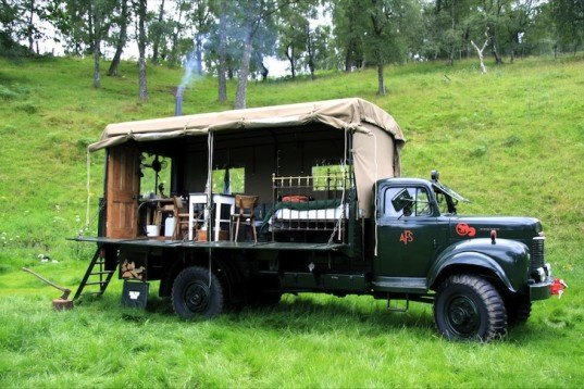 The Beer Moth, eco-travel, eco-tourism, design, recycled materials, adaptive reuse, green design, sustainable design, eco design, refurbished fire truck, Canopy & Stars, Inshriach House, recycled materials