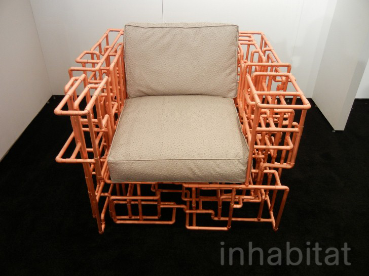 Copper Pipe Furniture brc designs' american pipe dream chair and table are made from a