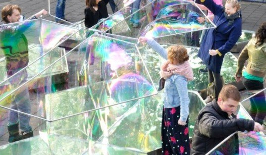 Bubble Building, The Netherlands, ZigZagCity, Rotterdam, DUS Architects, temporary design, green design, sustainable design, eco-design, global economic crises, tiny footprint, interactive design, community