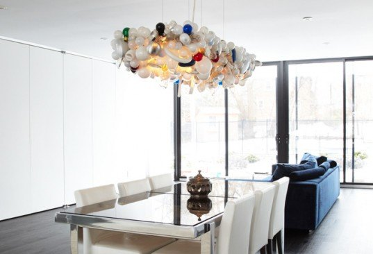 The Invisible Chandelier, Castor, Burnt Out Lamps, recycled lamp, recycled lamps, Art, Green Products, Recycled Ma