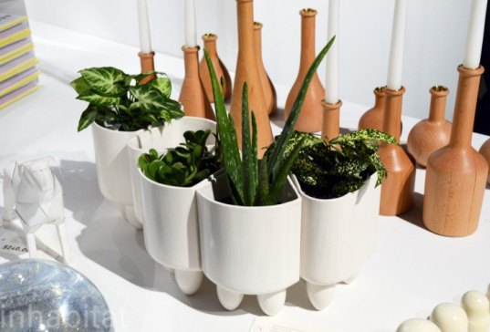 Modular Ceramic Planters, Andrew Erdle, iget.it, green gardening, garden planters wanted design, new york design week, ny design week 2012, green design, sustainable design, green furniture, green interiors, green products, sustainable products, eco design
