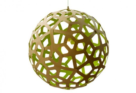 David Trubridge Coral Pendant, green lamp, sustainable lamp, led bulb, led lamp, low-energy lighting, sustainable design, green design