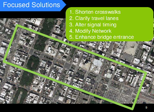 Delancey Street, Bowery, Clinton Street, Lower East Side, Department of Transportation, DOT, Delancey Street improvements, Delancey and Clinton, pedestrian safety