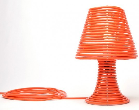 DIY Coil Lamp, green lamp, sustainable lamp, led bulb, led lamp, low-energy lighting, sustainable design, green design