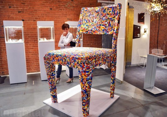 Giant Lego Chair, Alessandro Jordao, lego furniture, wanted design, new york design week, ny design week 2012, green design, sustainable design, green furniture, green interiors, green products, sustainable products, eco design