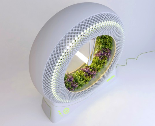DesignLibero, Green Wheel, hydroponic garden, NASA, rotary garden, urban farming, green design, sustainable design, eco-design