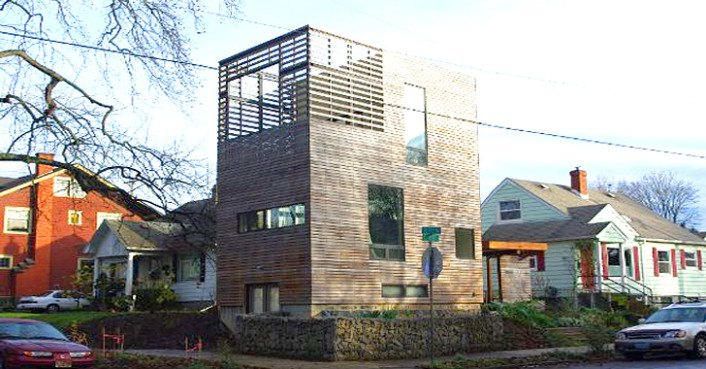 Harpoon house is a smartly designed compact prefab home in for Building a house in portland oregon