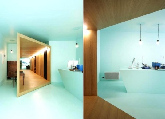 F R E A K S freearchitects, Heliocosm, natural cosmetics, Paris, green renovation, timber, minimalist, recycled materials, organic cosmetics, green design, sustainable design, eco-design