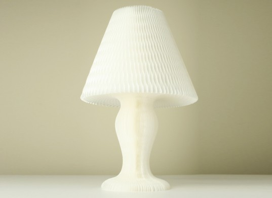 Honeycomb Paper Lamp, green lamp, sustainable lamp, led bulb, led lamp, low-energy lighting, sustainable design, green design
