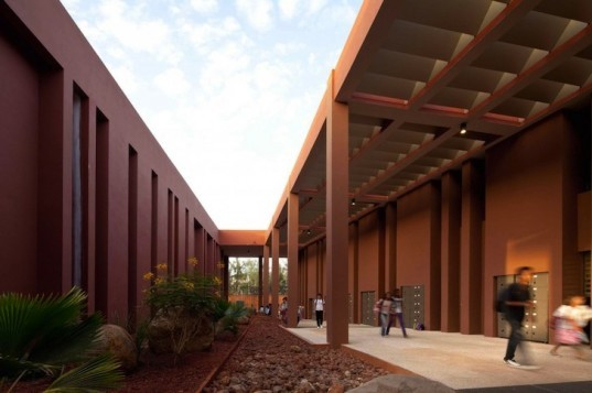 Senegal, Dakar, Jean Mermoz High School, passive design, high thermal inertia, local materials, local craftsmen, green design, sustainable design, eco-design, rainwater harvesting, dayligting