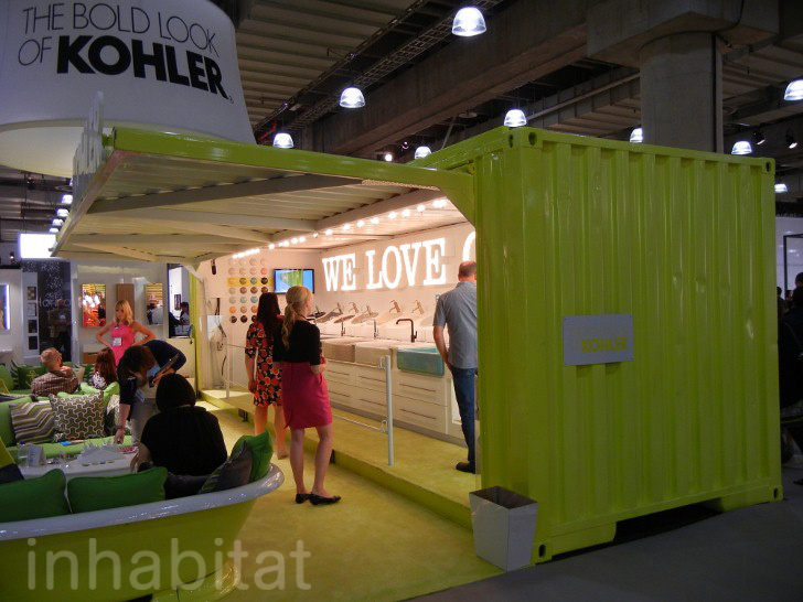 Kohler Makes a Splash at ICFF with a Neon Chartreuse Shipping ...