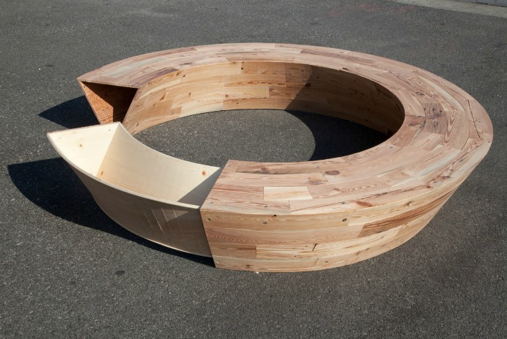 Outstanding Louis Lims Roundround Is A Circular Bench Made Of Cjindustries Chair Design For Home Cjindustriesco