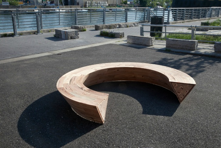 Louis Lim 39 S Round Round Is A Circular Bench Made Of Reclaimed Nyc Wood Inhabitat Green